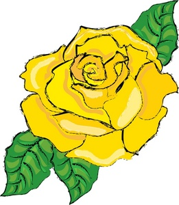 clipart yellow rose flower clip border cliparts bloom flowerclipart clipartmag computer designs clipground illustration