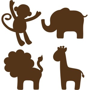 animal silhouette simple designs lolly clipart cliparts silhouettes clip animals basic nursery wall computer jane