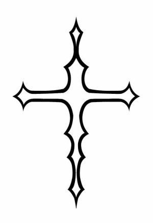 tribal cross easy tattoos simple clipart drawings cool crosses tattoo designs desing clipartbest meaning clipartmag cliparts clip stunning