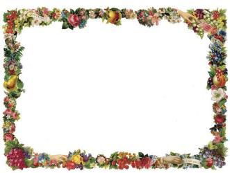 borders border victorian fruit frame clip food clipart flowers frames flower floral cliparts horizontal designs gourmet transparent library menu printable