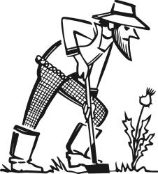 Free Black And White Clip Art Gardening ClipArt Best