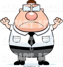 clip vector cartoon art of a mad grumpy plump nerd man [ 1024 x 1044 Pixel ]