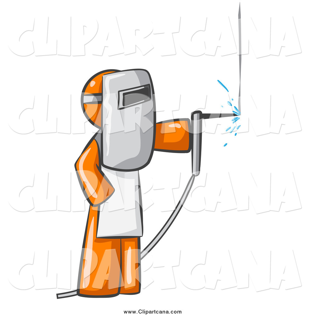 hight resolution of clip art of a welding orange man wearing protective gear