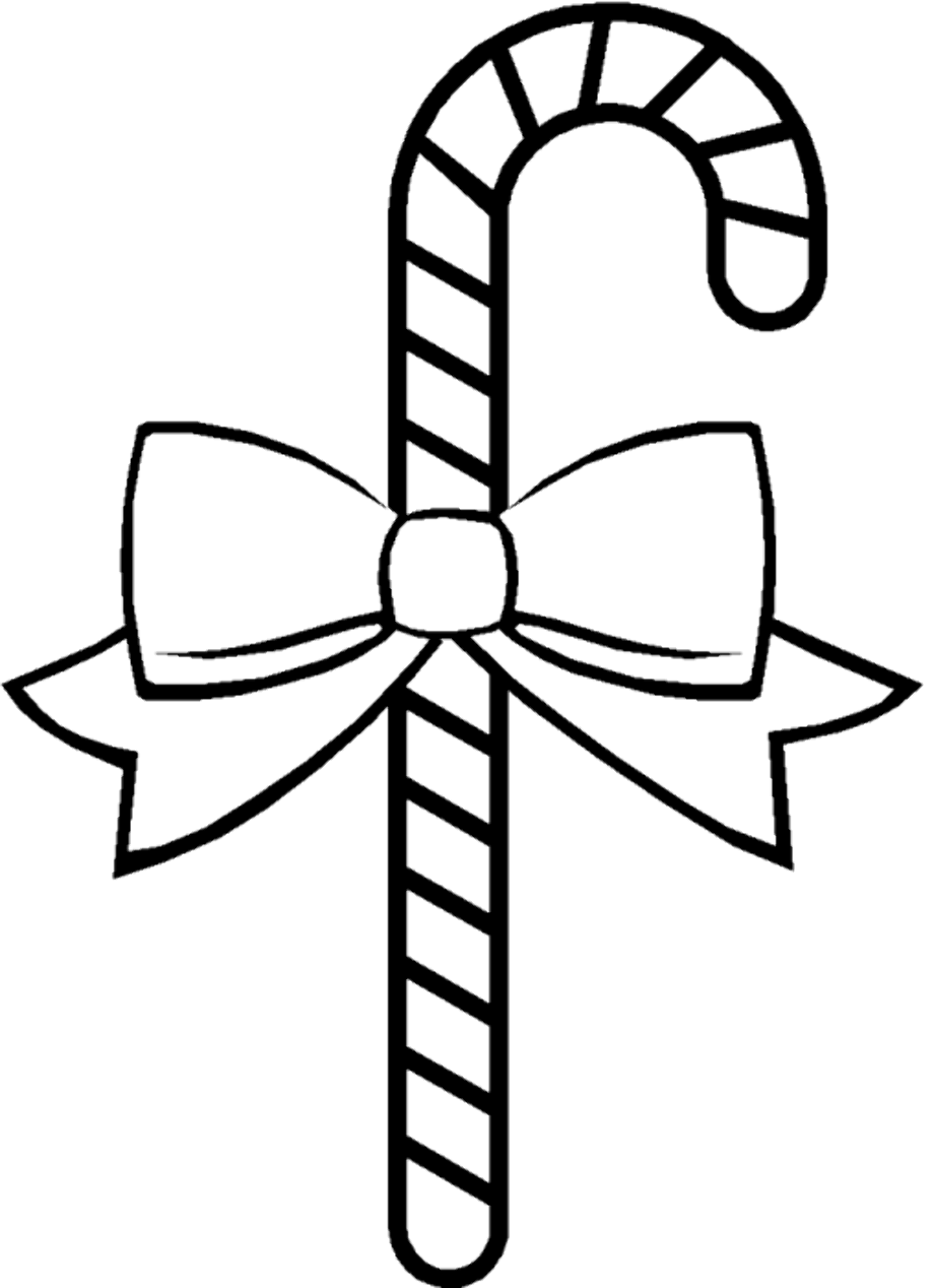 Download High Quality candy cane clipart outline