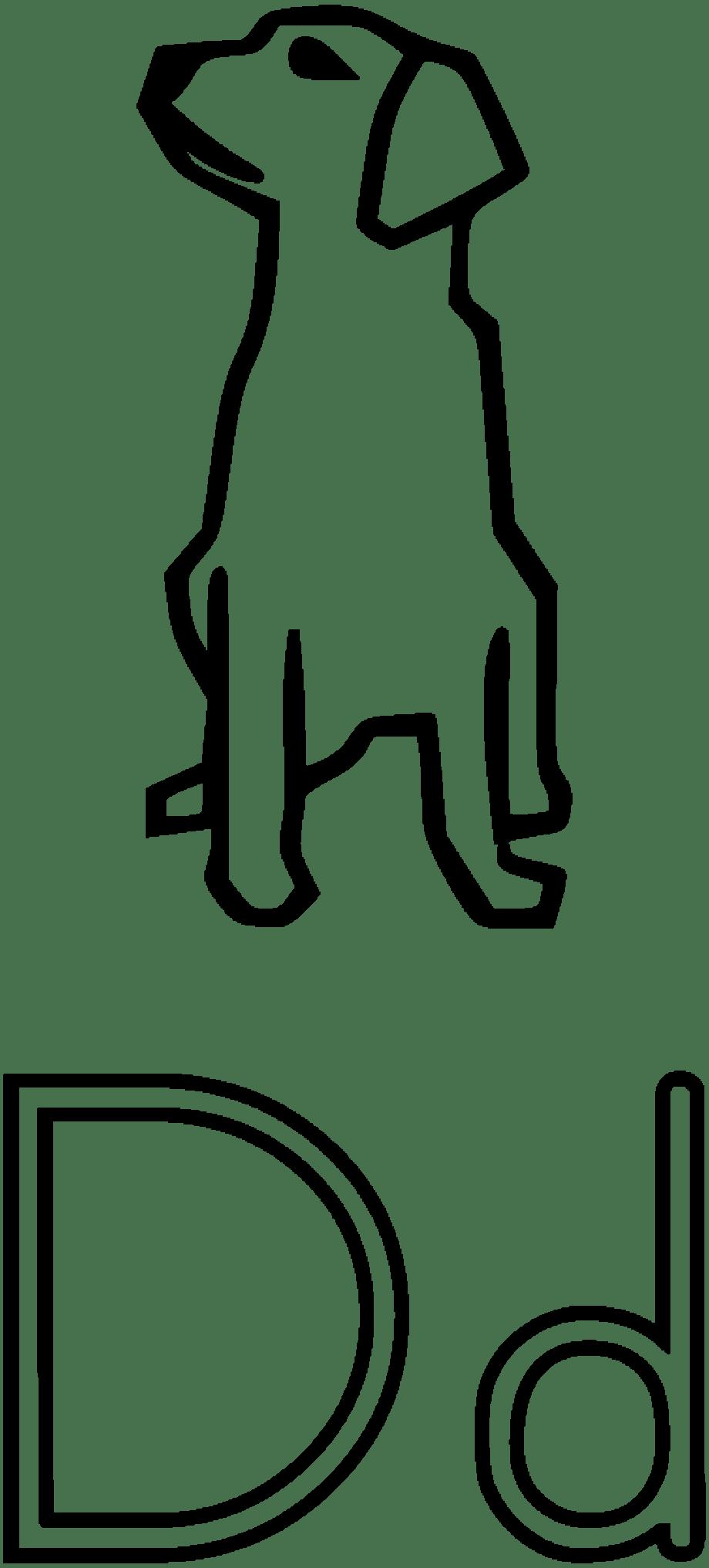 Download High Quality Dog clipart alphabet Transparent PNG