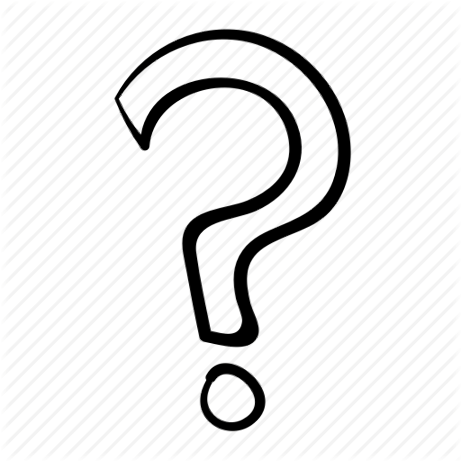 Download High Quality question mark transparent hand drawn