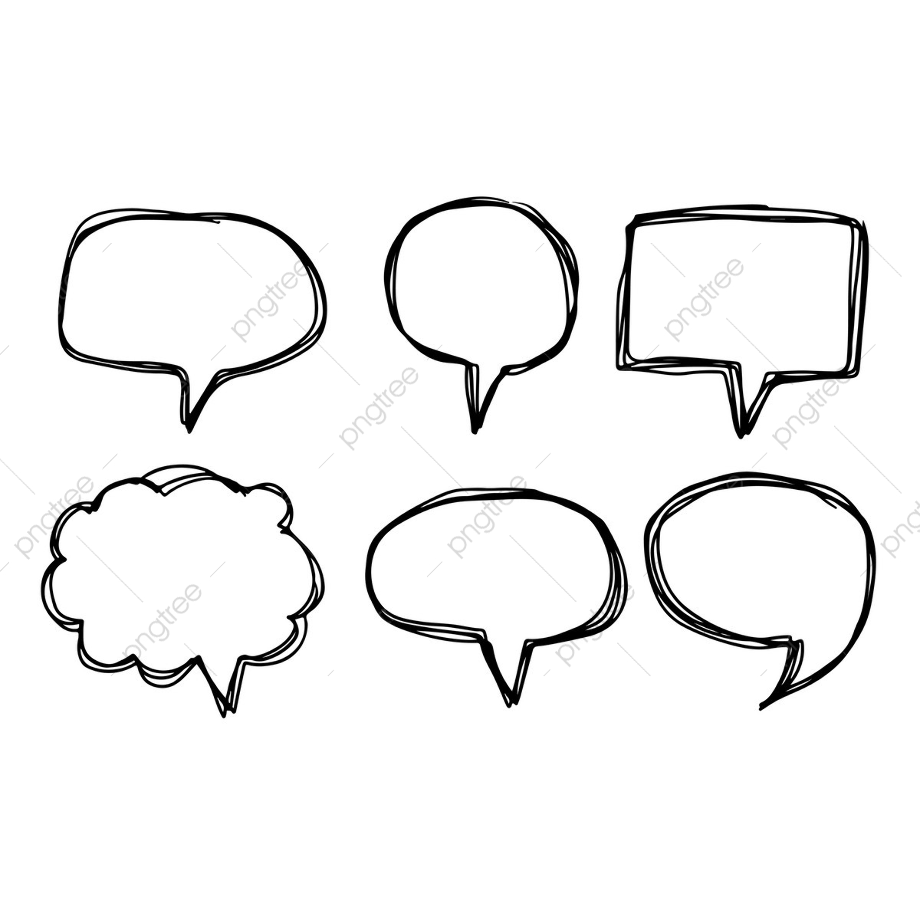 Download High Quality speech bubble transparent hand drawn