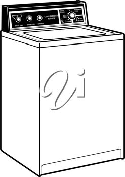Clipart Illustration of a Washer