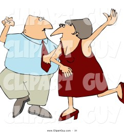 clip art of a happy man and woman husband and wife dancing together on a dance floor [ 1024 x 1044 Pixel ]