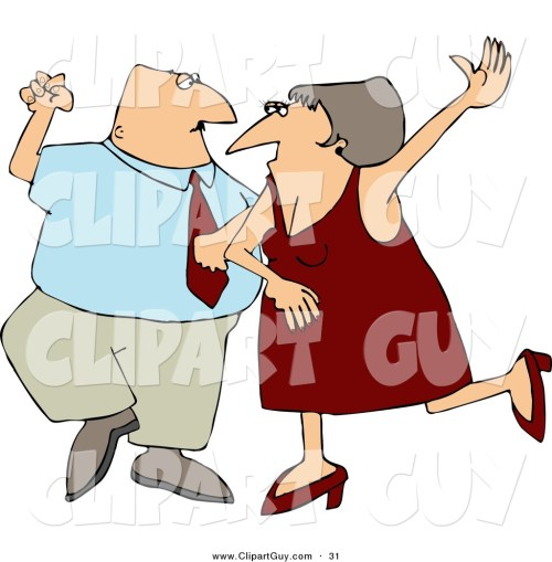 small resolution of clip art of a happy man and woman husband and wife dancing together on a dance floor