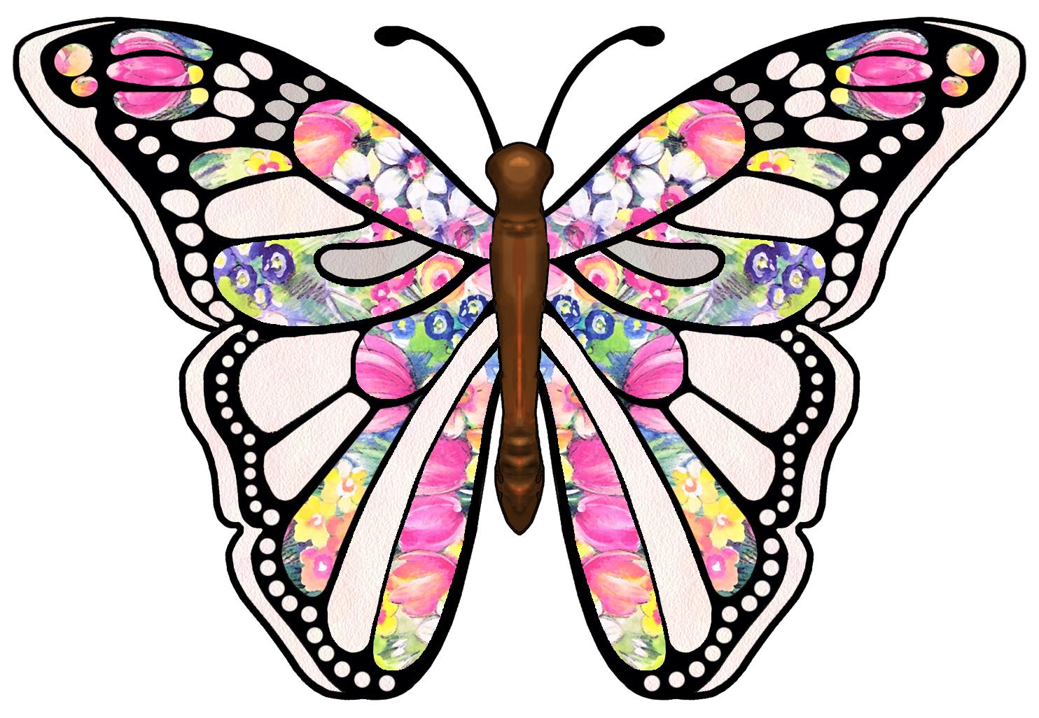 hight resolution of butterfly clipart danaamda top