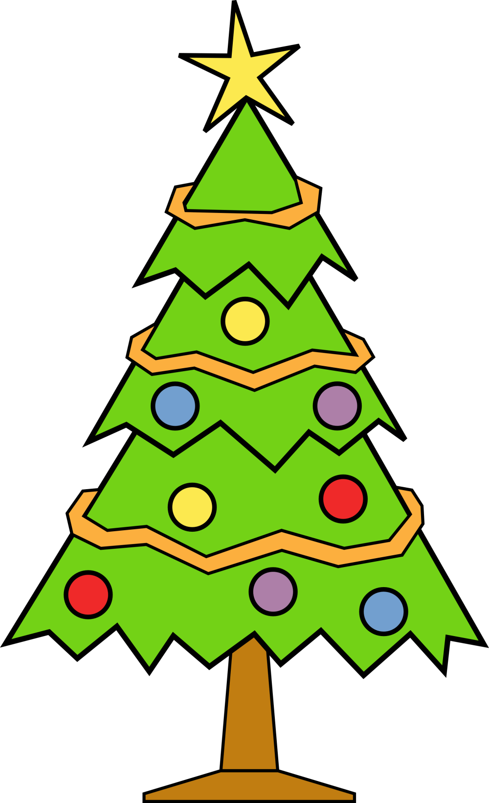medium resolution of clipart christmas tree free clipart images