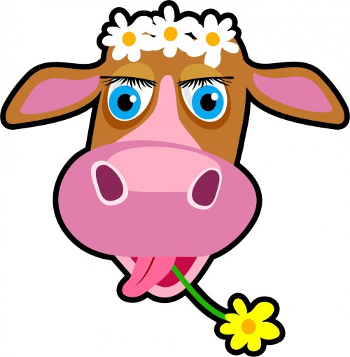 small resolution of cow cartoonw clipart free stock photo public domain pictures