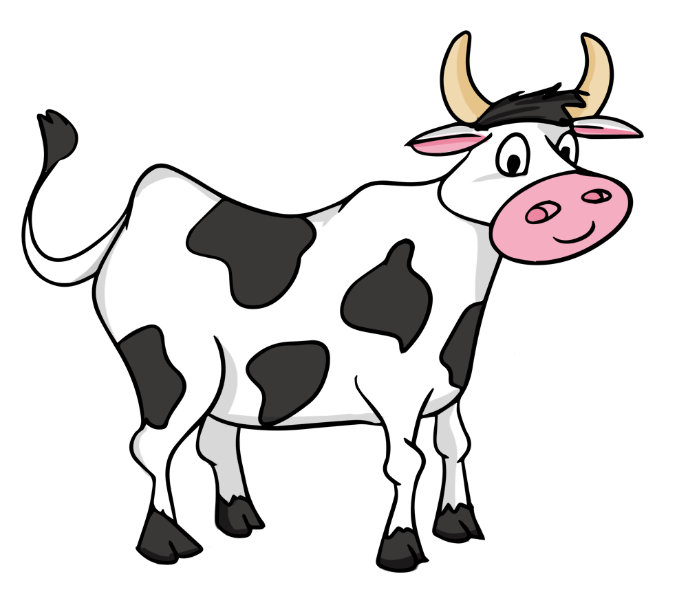medium resolution of cow clip art black and white free clipart images