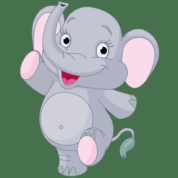 cute elephant baby clipart