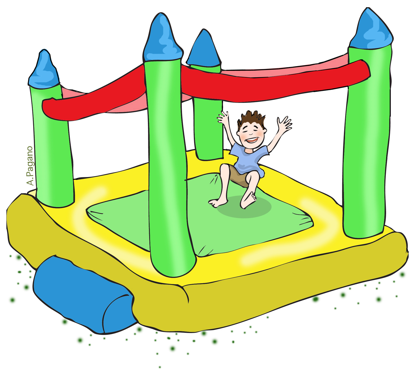 hight resolution of free bounce house clip art