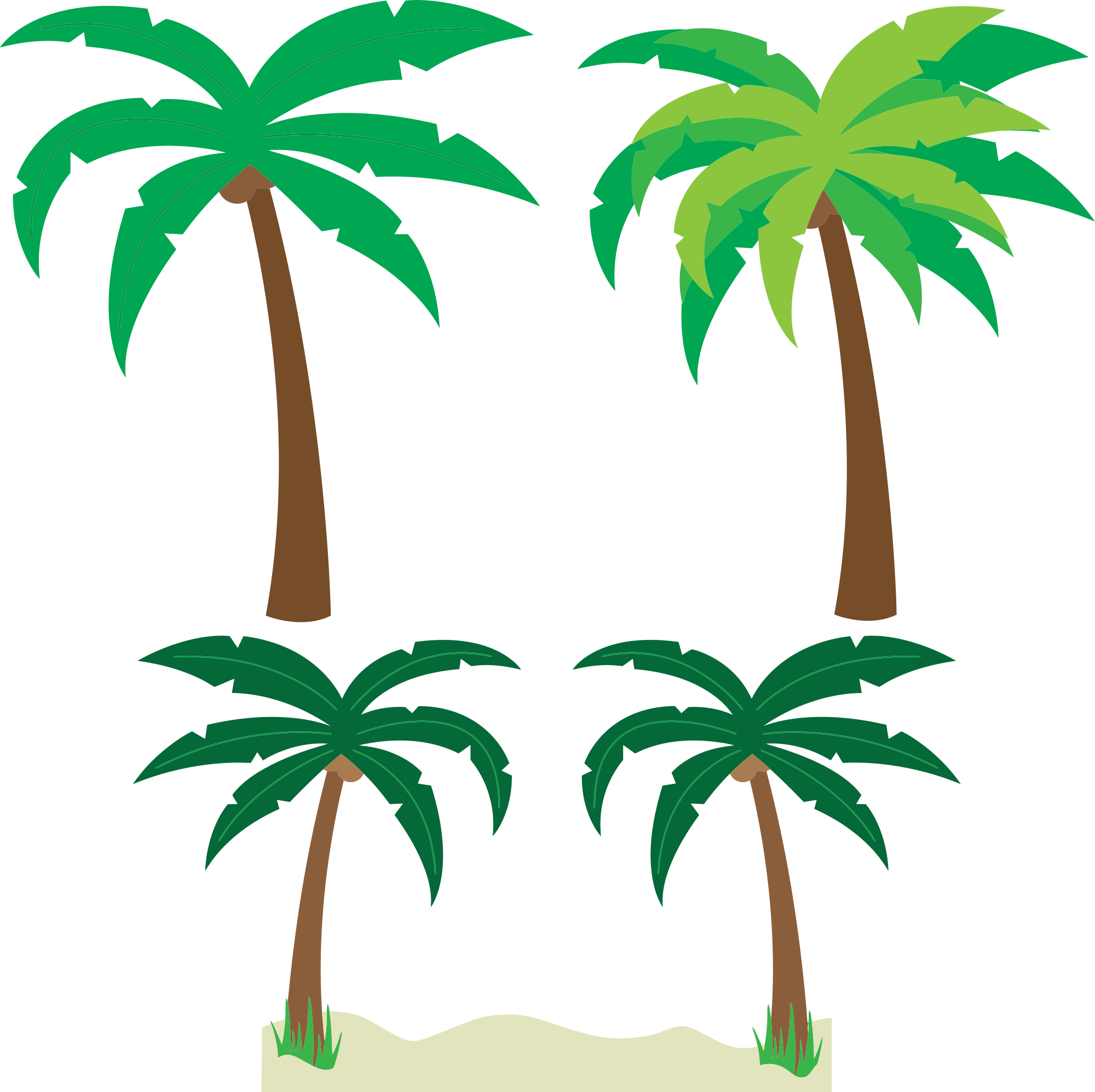 hight resolution of free cartoon palm trees clipart clipart and vector image