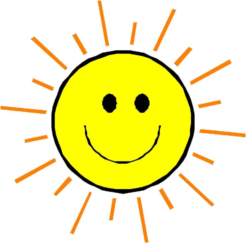 medium resolution of happy face sun clipart