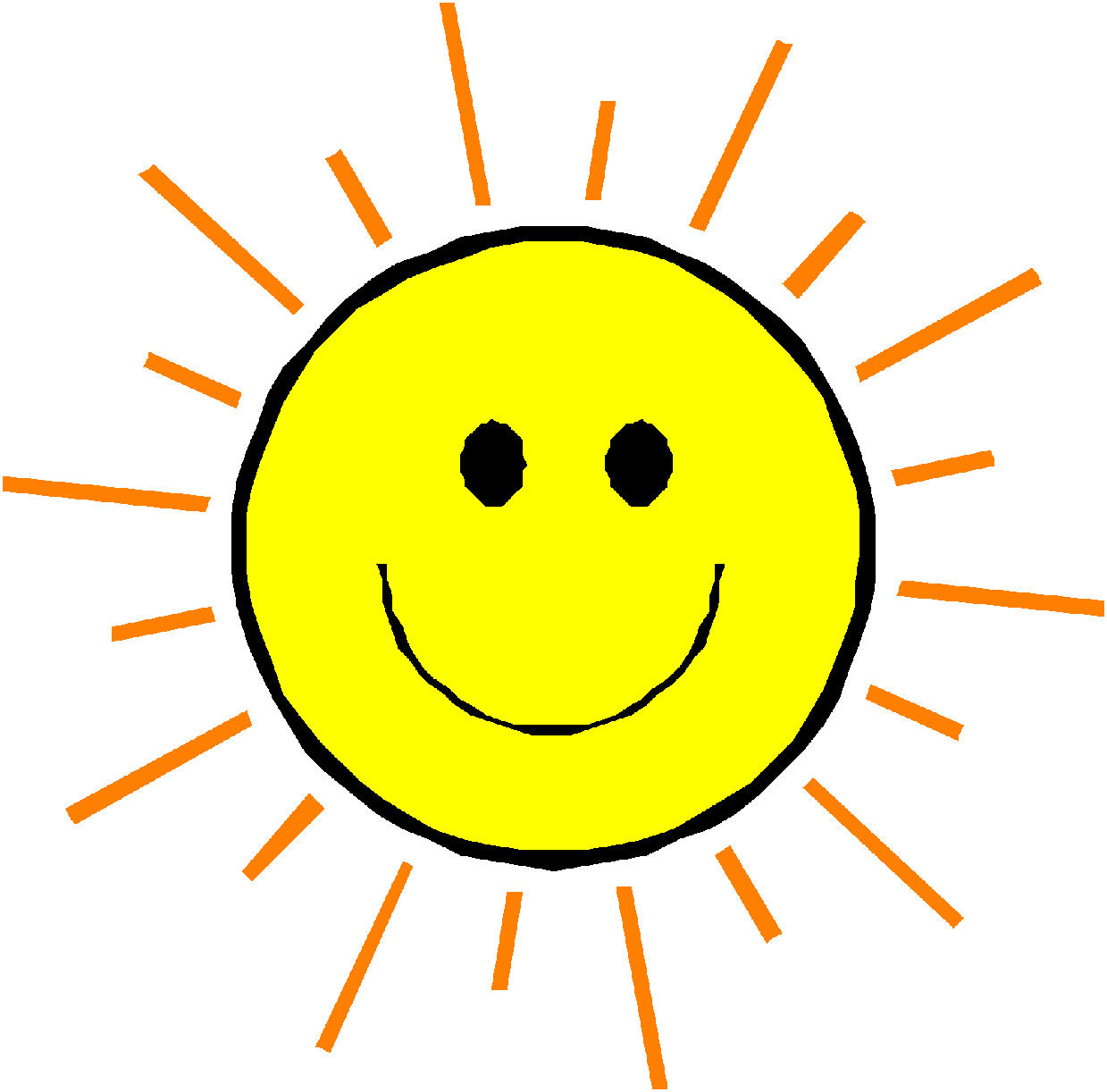 hight resolution of happy face sun clipart