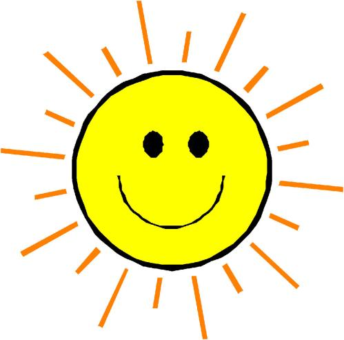 small resolution of happy face sun clipart