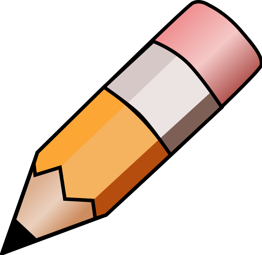 hight resolution of pencil clip art black and white free clipart images 2
