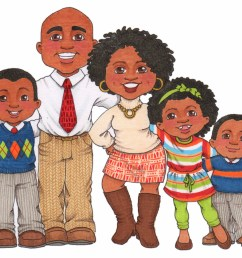 photos of african american clip art family african [ 1600 x 1380 Pixel ]