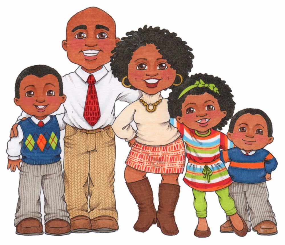 medium resolution of photos of african american clip art family african