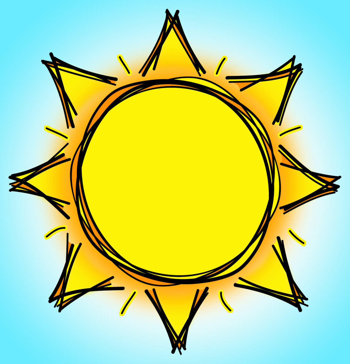 hight resolution of sun clipart black and white free clipart images 5