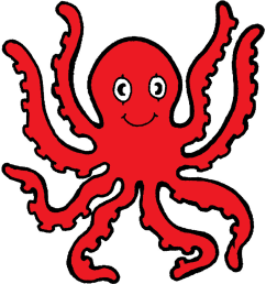 animated octopus clipart [ 1500 x 1613 Pixel ]
