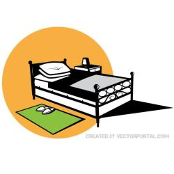 Bed clipart of child 2 image 2 Cliparting com