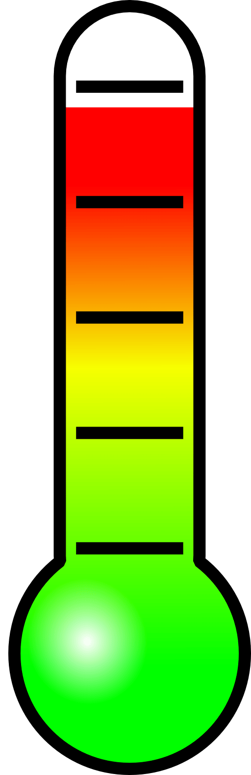blank thermometer clip art free