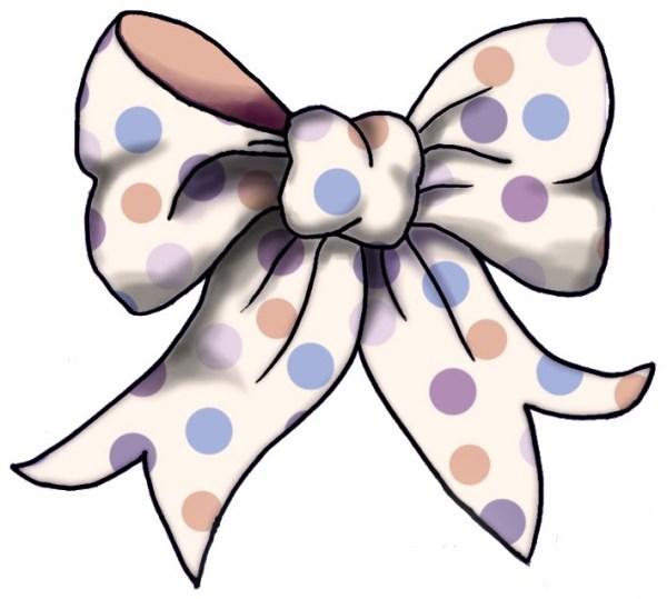 hair bow clip art vector