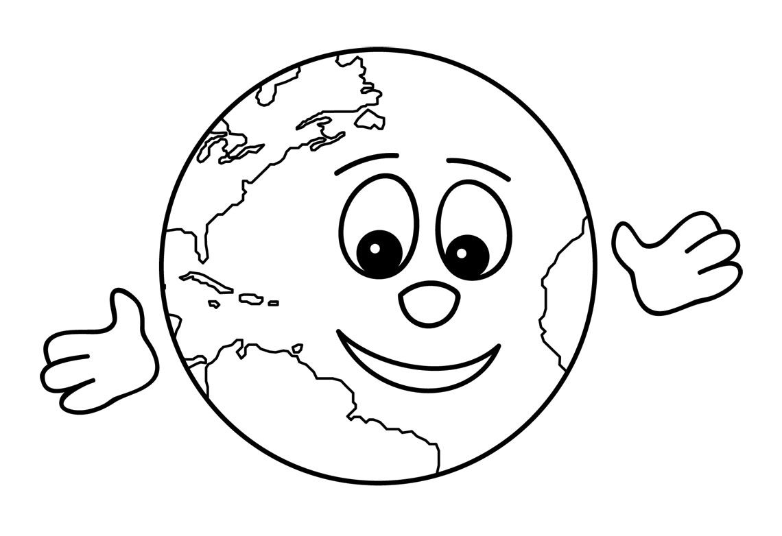 Earth Clipart Black And White Free Clipart Images 2
