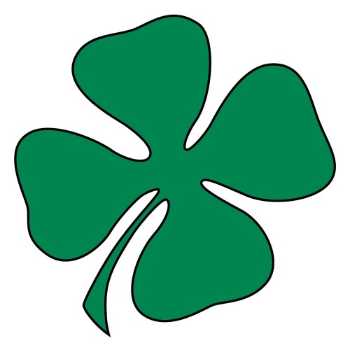 small resolution of clip art green four leaf clover shamrock st patrick