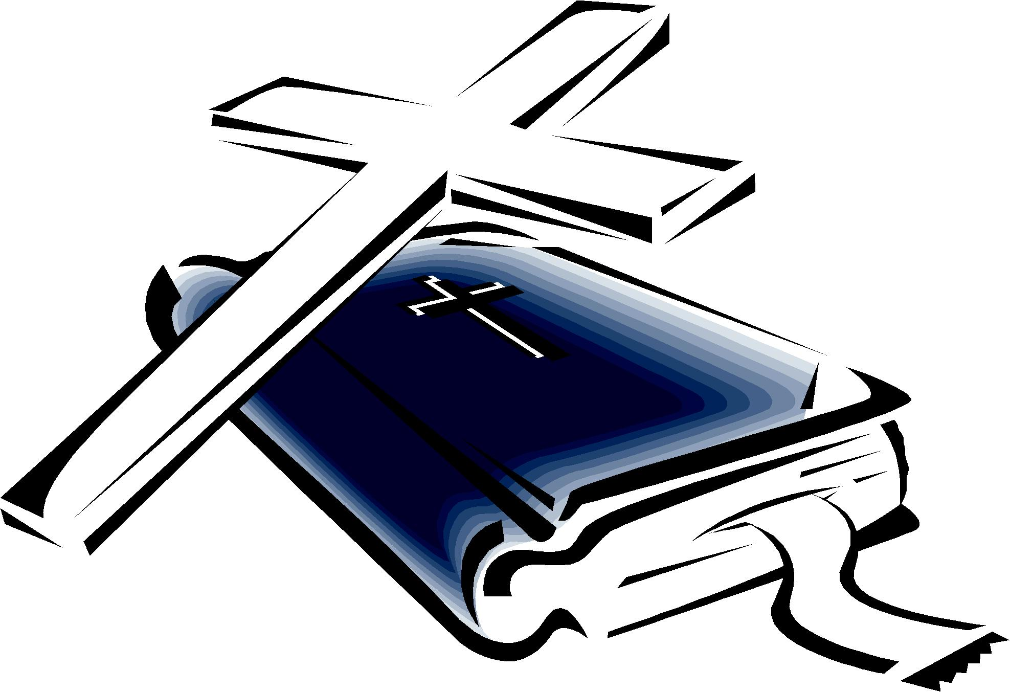 cross and bible clipart