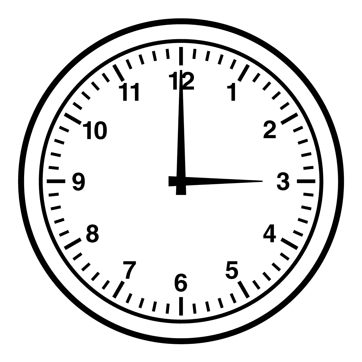 Time Clip Art Black and White
