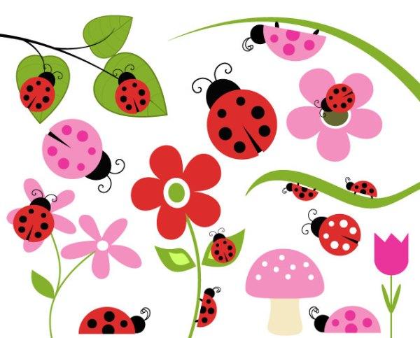 ladybug lady bug clip art flower