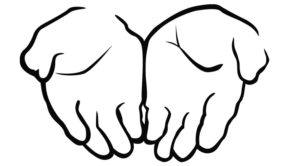 medium resolution of open praying hands clipart free clipart images