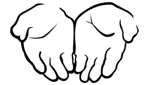 small resolution of open praying hands clipart free clipart images