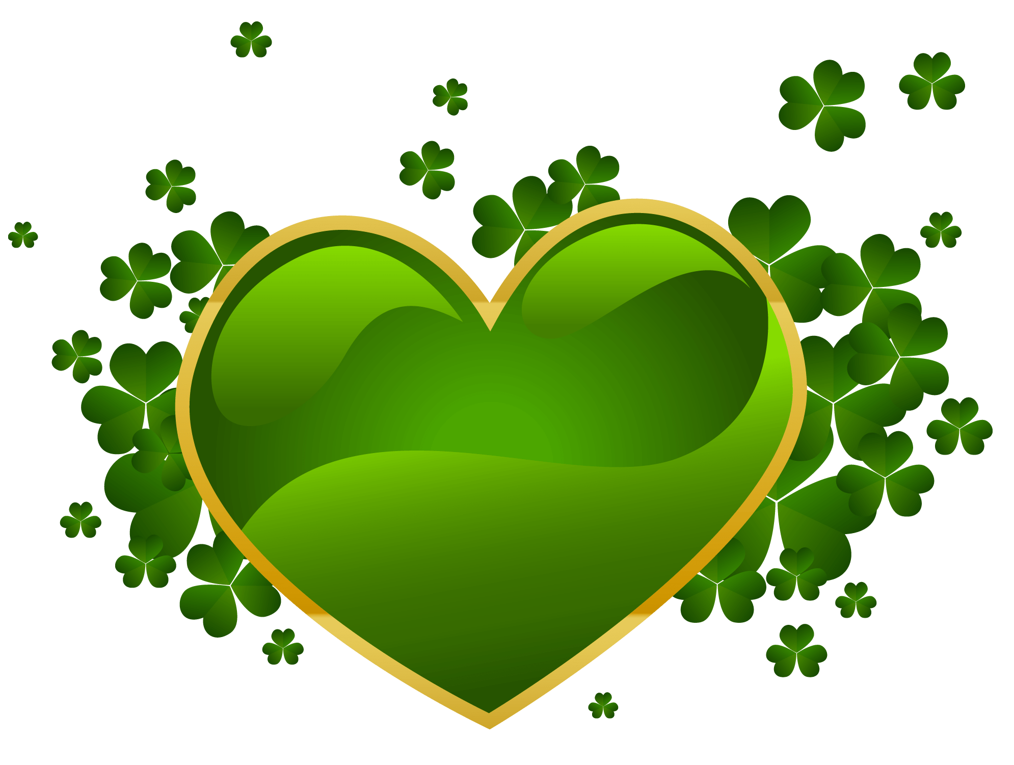 hight resolution of st patricks day heart with shamrock clipart