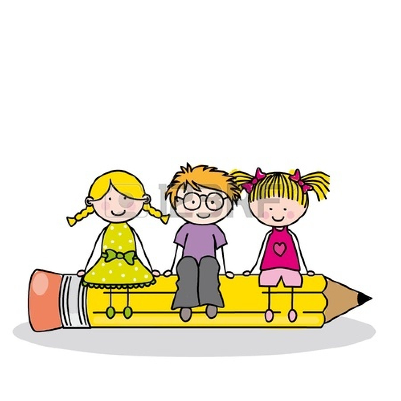 hight resolution of writing school clipart