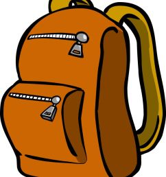 backpack clipart graphic free travel bag stock image image [ 879 x 1024 Pixel ]