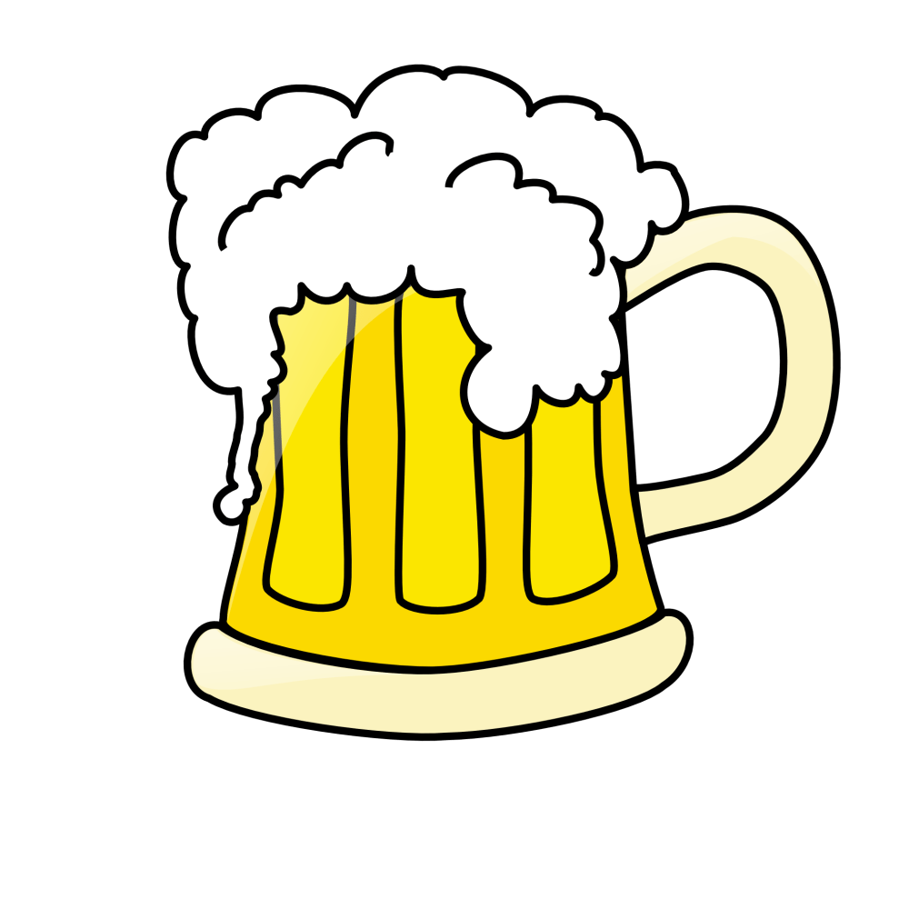 medium resolution of beer clip art black and white free clipart images 4