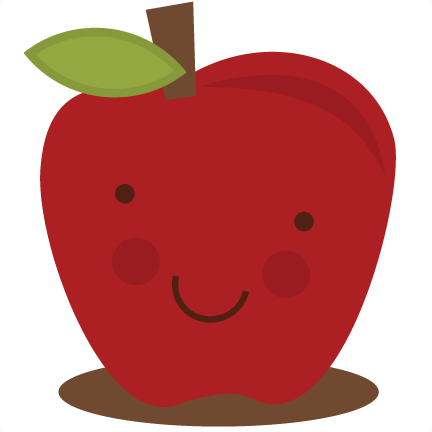 cute fall apple clipart