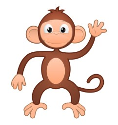 hanging monkey template free clipart images [ 927 x 1200 Pixel ]
