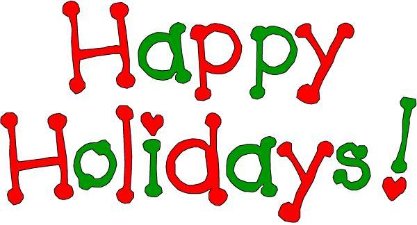 free happy holidays clip art