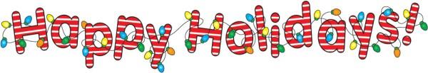happy holidays banner clip art