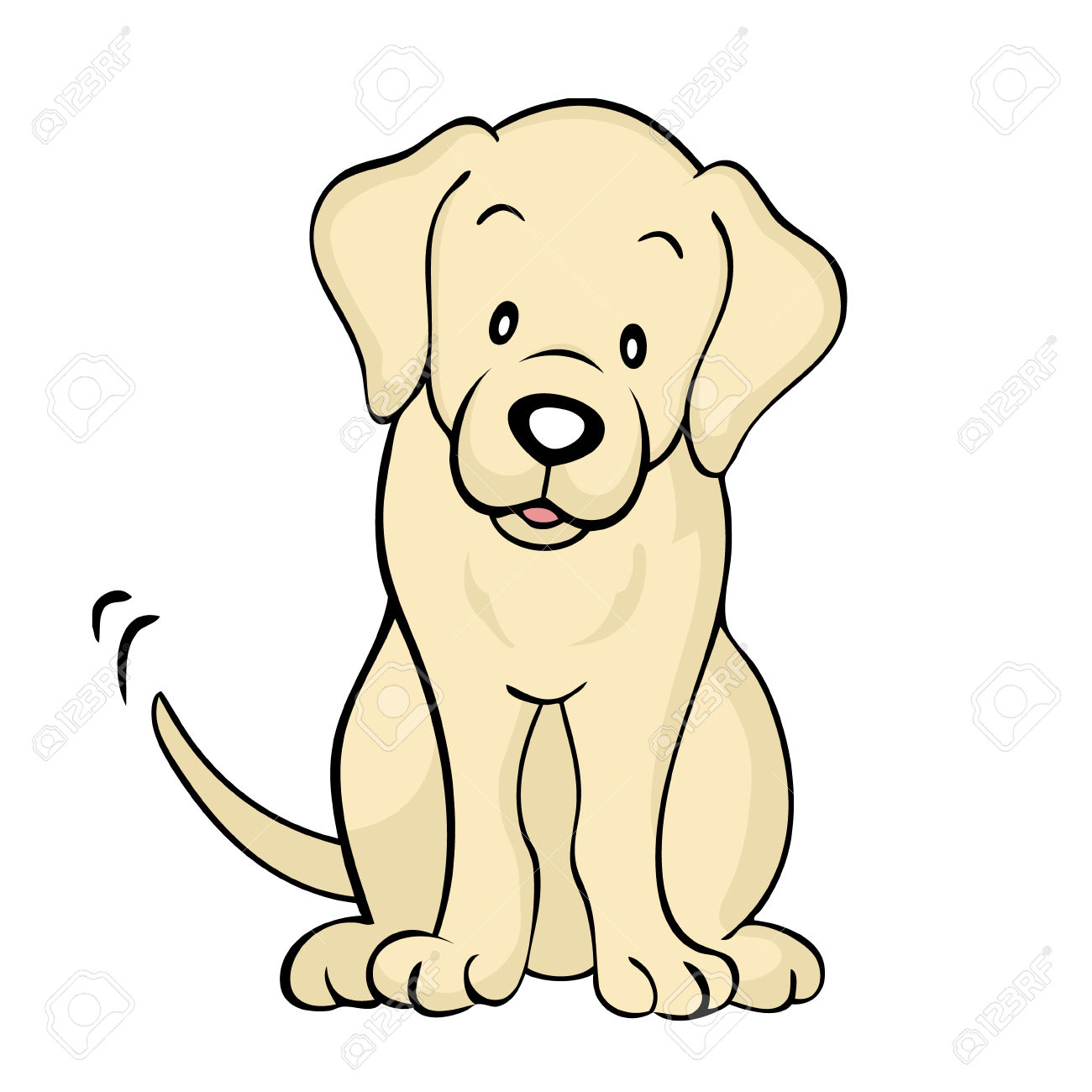 hight resolution of labrador puppy clipart