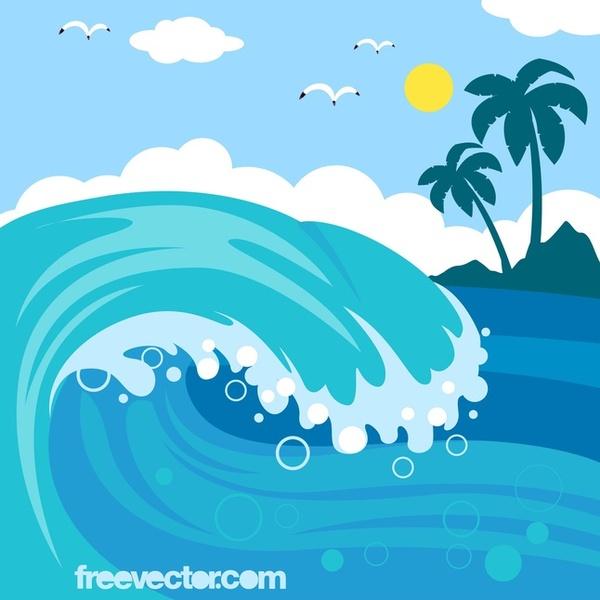 ocean waves clip art vectors