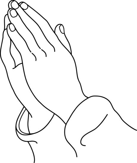 Praying Hands Coloring Page Sketch Coloring Page